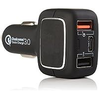 evst Cargador rápido con Qualcomm Quick Charge 3.0tecnología para Samsung Galaxy S7/S6/Edge, Google Pixel, Nota 4/5/6, LG G4/G5, Sony Xperia, Nexus 6, iPhone, iPad y otros con USB de carga rápida Cable