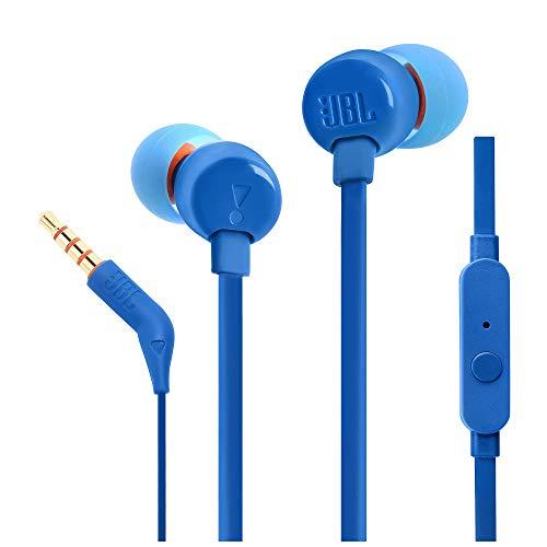 JBL Tune 110 in-Ear Headphones with Mic (Blue)
