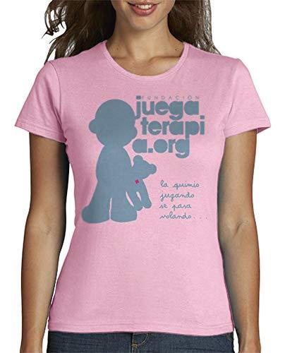 Latostadora - Camiseta Juegaterapia Mujer Rosa L