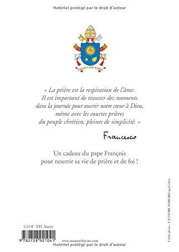 Prières réunies par le pape François