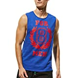 Herren Tanktop Tank Top Tankshirt T-Shirt mit Print Unterhemden Ärmellos Weste Muskelshirt Fitness Breezy 728
