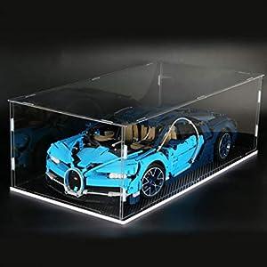 Dittzz Acrilico Vetrina, Antipolvere Display Case per Lego Technic Bugatti Chiron 42083 (Il Modello Lego Non Include) 8729416247657 LEGO