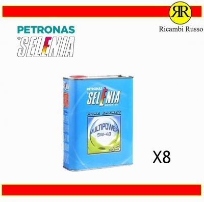 OLIO MOTORE AUTO SELENIA PETRONAS 5W40 MULTIPOWER GAS LITRI 8