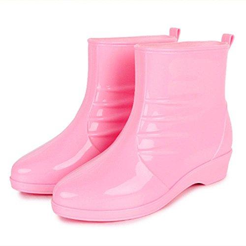 Dame à la mode des bottes de pluie Pink