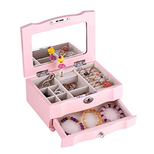 LIFELINK Spieluhr Spieldose Schmuckästchen Schmuckbox für Kinder Musik Box Musikspieldosen
