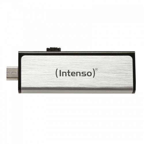 Intenso Mobile Line On-the-go 16 GB USB-Stick USB2.0 (USB und micro-USB) silber