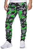 OneRedox Herren Jogging Hose Jogger Streetwear Sporthose Modell 794 Grün M