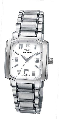 Sandoz 81264-00 – Reloj de mujer de cuarzo, correa de acero inoxidable color plata