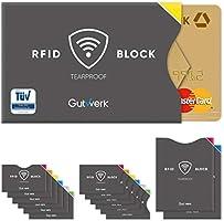 TÜV geprüfte RFID Schutzhülle Kreditkarten reißfest [14 St.] 100% RFID NFC Schutz für Kreditkarten, EC Karten Hülle |...