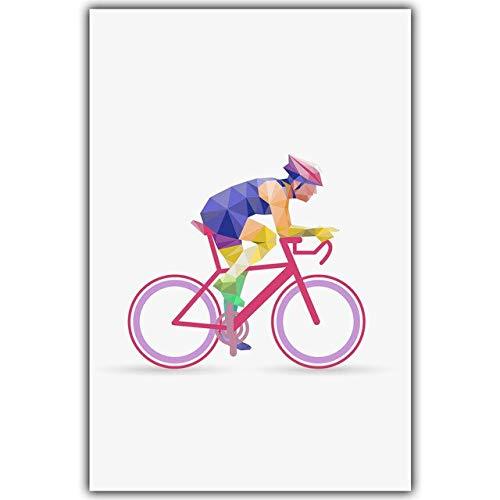XWArtpic Abstrakte farbenfrohe geometrische Form olympisches Projekt Sportveranstaltung Wandkunst Fitnessraum Wohnkultur Kinderzimmer Kinderzimmer Poster Leinwand Malerei 40 * 50cm L