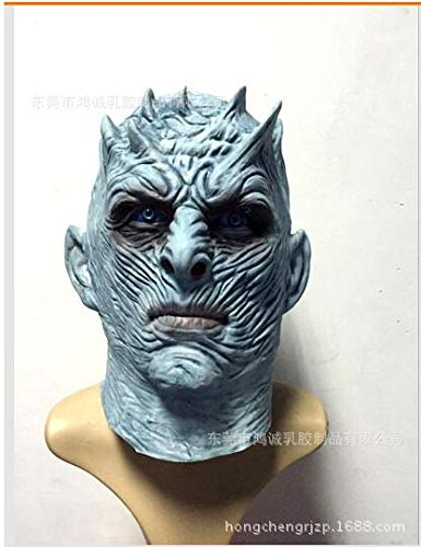 Uniqus Night King Costume Cary Halloween Horror Mask Adult Night King Killer Men Cosplay Latex Masks Walker Full-Face Mask Movie Party