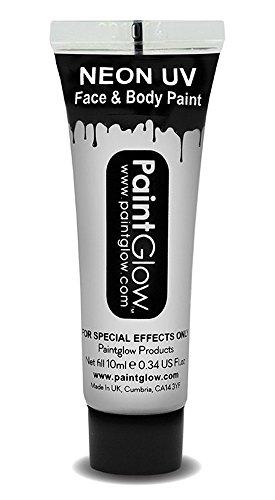 UV Neon Face & Body Paint Make up Weiß