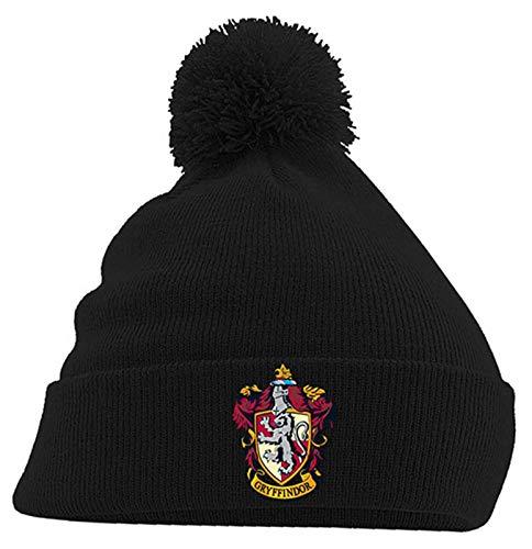 Harry Potter Mütze Beanie Gryffindor House Crest Hogwarts offiziell Schwarz