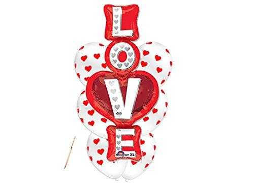 Irpot - composizione palloncini cuoricini - love stacked san valentino