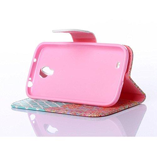 Guran® PU Leder Tasche für Apple iPhone 6 / 6S (4,7 Zoll) Smartphone Flip Deckung Stehen Funktion und Karte Slot Case-Anchors Ruder color4