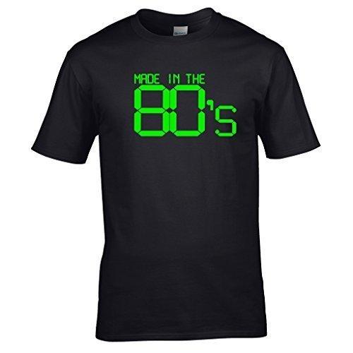 naughtees vêtements - Made in the années 80 t-shirt. Super pour rétro fêtes, rentrée scolaire discothèques ou affichage You're Proud To Be a Child of the années 80 - Noir, Large