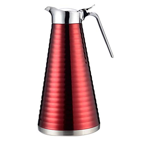 Ultra Time Empty Thermoskannen Edelstahl Isolationstopf 1.5L Große Kapazität Wärmflasche 24-Stunden-Langzeitisolierung Vakuum Thermos Kaffee, Tee, Getränke Usw. (größe : 1.5L红)