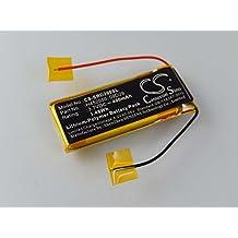vhbw litio polímero batería 400mAh (3.7V) para auriculares Cardo Scala Rider Q2, Teamset (1.Generation) por H452050, 09D29.