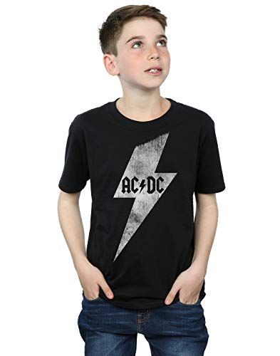AC/DC niños Lightning Bolt Camiseta 9-11 Years Negro