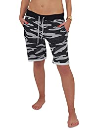 REDRUM   Damen   Bermuda Shorts   Kurze Hose   Jogginghose   Sweatshorts    Militär   Camouflage   Freizeitmode für den… a202421198