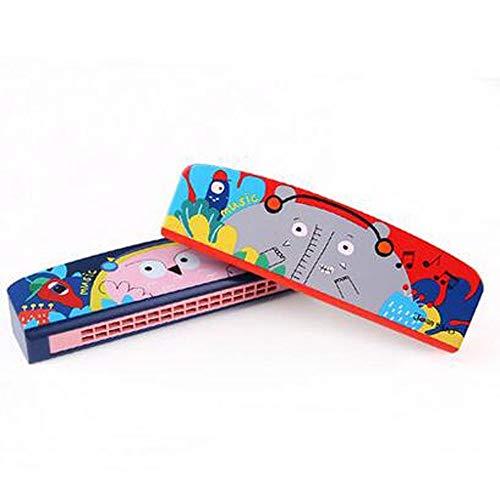 CHUJIAN Hölzerne Mundharmonika, Kinder, männliche und weibliche Schüler, Eintrittsinstrumente, Kinderklangpiano-Musik-Aufklärung, die Spielwaren spielt ( Color : Red )