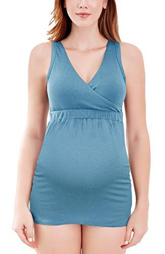 Intimate Portal Hera EIN gerüschtes Tank-Hemdchen für Mütter Kleidung für Schwangerschaft und Stillzeit,XL, Blau