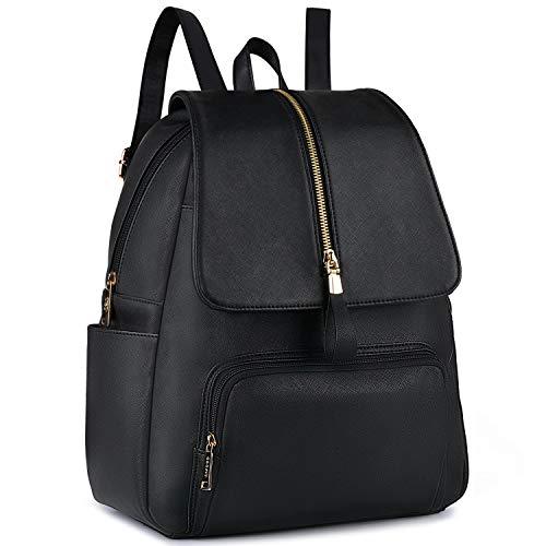 Coofit zaino donna elegante borse a zainetto donna grande zaino nero ecopelle donna a4