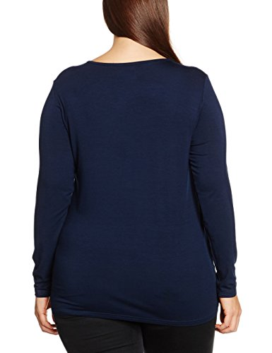 zizzi Damen T-Shirt Blau (Night Sky 1496)