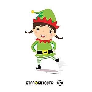 Star Cutouts Ltd SC985 - Figura decorativa de cartón para niños (82 cm), diseño de elfo