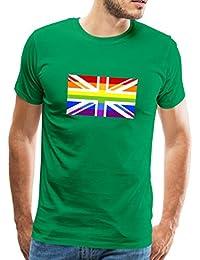 Spreadshirt Rainbow Flag Union Jack Men's Premium T-Shirt