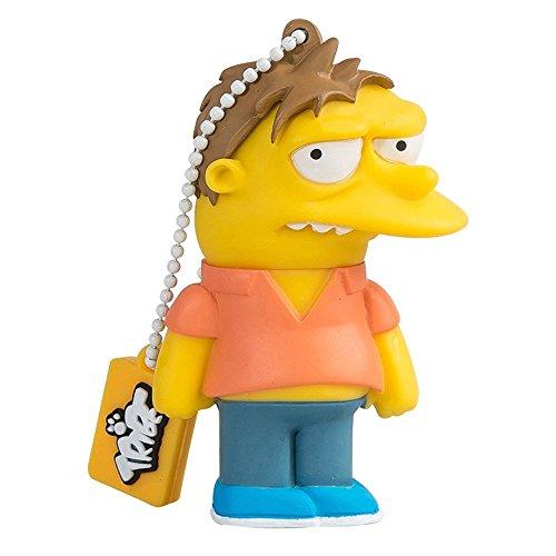 Tribe Simpsons Barney USB Stick 8GB Speicherstick 2.0 High Speed Pendrive Memory Stick Flash Drive, Lustige Geschenke 3D Figur, USB Gadget aus Hart-PVC mit Schlüsselanhänger - Gelb