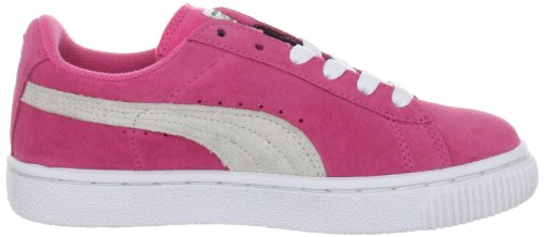 Puma Kds Suede Classic, Baskets mode mixte enfant Rose - Rosa (hot pink-white 04)