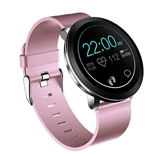 Knowin Smartwatch Damen 1,3 Zoll Farbbildschirm Runde Fitness Uhr Bluetooth Smartwatches mit SIM/TF Card Solt Sleep Monitoring Anti-Lost Heart Rate Monitor and Pedometer for IOS and Android System - Stift Halter Uhr