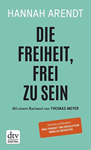 Buchseite und Rezensionen zu 'Die Freiheit, frei zu sein' von Hannah Arendt