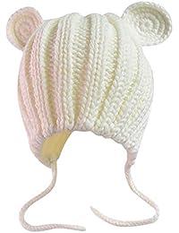 ODJOY-FAN-bambino Orecchie di gatto Manuale Berretto lana Cappello lavorato  a maglia- 6b9b058c9ed0