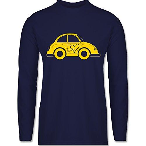 Shirtracer Autos - Liebes Beetle Auto - Herren Langarmshirt Navy Blau