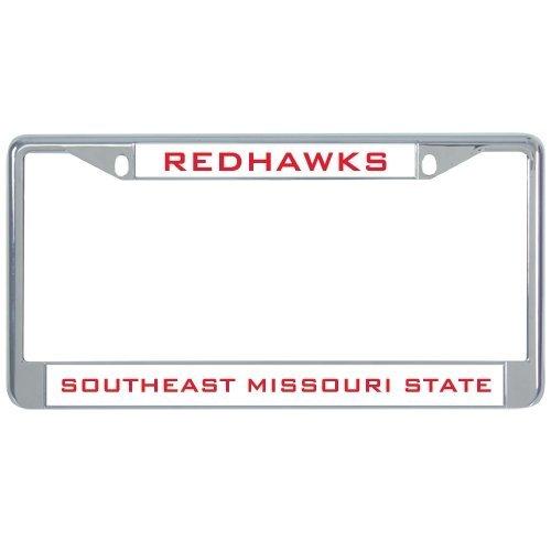Southeast Missouri Metall Nummernschild Rahmen in Chrom Redhawks 30,5x 15,2cm - Missouri Rahmen