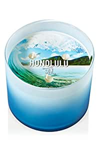 Bain & Body Works HONOLULU SUN Bougie Parfumée à 3 mèches en verre dépoli et 411 g et 411 g