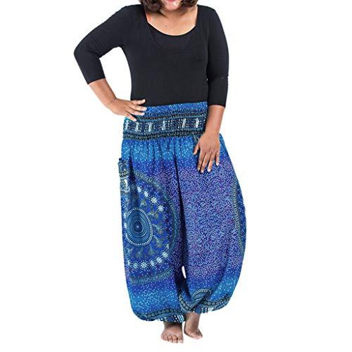 zeithose Baggy Haremshose,Laterne trägt Yogahosen zur Schau Laternen Sport Yoga Hosen Plus Size Frauen beiläufige lose Hippie Yoga Hosen Baggy Böhmen Casual Pants ()
