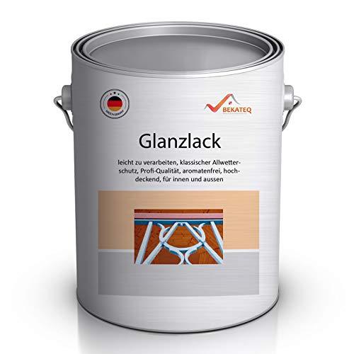 BEKATEQ LS-490 PROFI Buntlack 2in1 glänzend 2,5l RAL7001 Silbergrau, Kunstharzlack, UV-stabil, schnelltrocknend, schlagfest