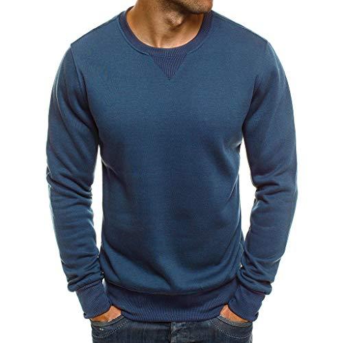 Maglione uomo tinta unita, fascino della moda casual o-collo autunno inverno moda casual maglione casual da uomo felpa in tinta unita top sciolto top
