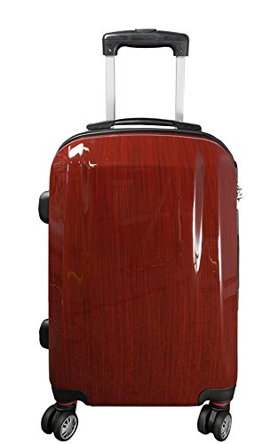 Coffre Wellington Rouge Taille L carbone/100% rigide Valise à roulettes en polycarbonate Case FA. bowatex