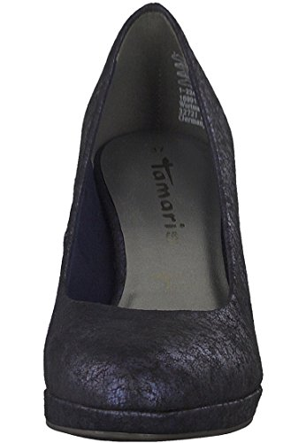 Tamaris 22420, Scarpe con Tacco Donna, Nero Blu (Navy Metallic)