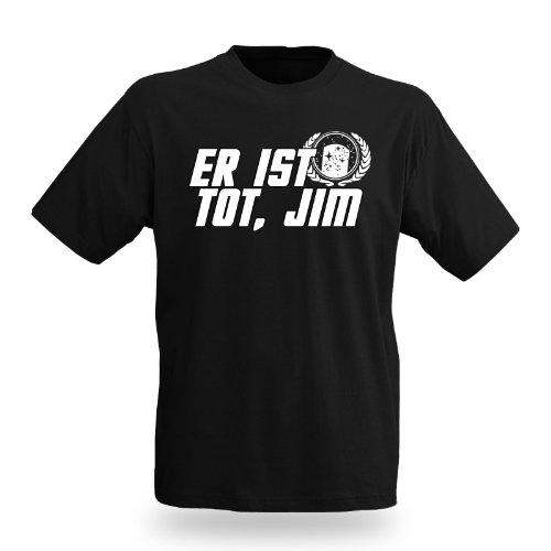 Er ist tot, Jim Trekkie Shirt für Star Trek Fans großer Kult Frontprint schwarz - M