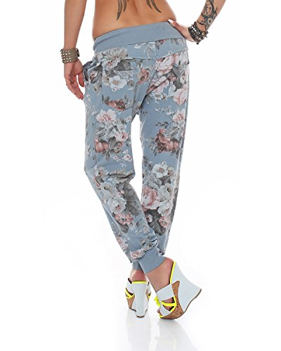 Damen Sweatpants Baggy Hose Hellblau