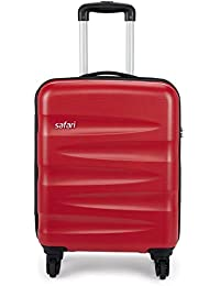 Safari Wedge 55 Cms Polycarbonate Red Cabin 4 wheels  Hard Suitcase