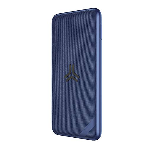 MYYING ELE Wireless Portable Charger, 10000mAh External Battery Pack Power Bank with Dual Input and Foldable Bracket Compatible with iPhone XS/XR/XS Max/8/8 Plus and All Qi-Enabled Devices, Blue Usb Charge Tip Pack