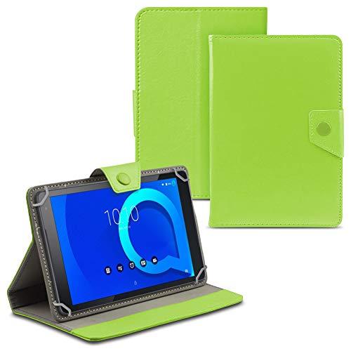 UC-Express Tablet Tasche für Alcatel 1T 10 Hülle Case Cover Schutzhülle Etui 10.1 Zoll Tablethülle, Farbe:Grün