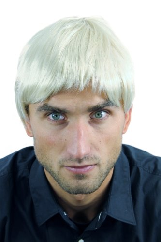WIG ME UP – Perücke Herrenperücke Männer Kurz Hellblond Blond ()