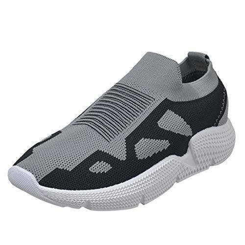 Innerternet Damen Slip On Sneakers Walkingschuhe Leichte Atmungsaktiv Fitness Laufschuhe Sportschuhe Schnüren Running Sneaker Freizeitschuhe Outdoor Gym Bequem Turnschuhe